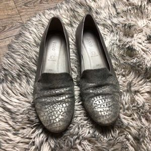 ECCO leather loafers 7.5